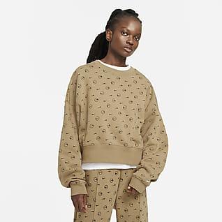 Nike Sportswear Sudadera de cuello redondo estampada de tejido Fleece para mujer