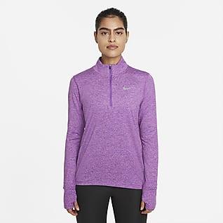 Nike Part superior amb mitja cremallera de running - Dona