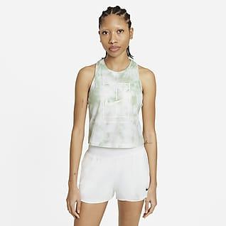 NikeCourt Tennistanktop met tie-dye-print voor dames
