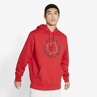 Nike Sportswear JDI Sudadera con capucha de tejido Fleece sin cierre para hombre