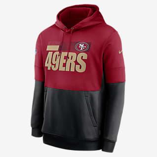 Nike Therma Team Name Lockup (NFL San Francisco 49ers) Kapucnis, belebújós férfipulóver