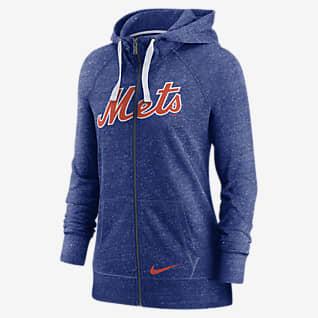 Nike Wordmark Vintage (MLB New York Mets) Women's Full-Zip Hoodie