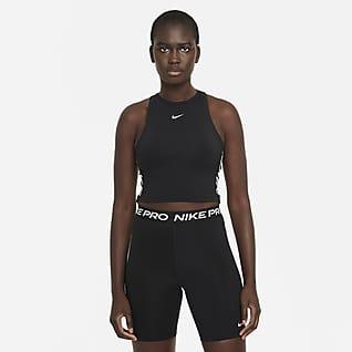 Nike Pro Dri-FIT Camisola sem mangas recortada com grafismo para mulher