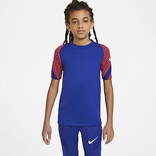 Nike Breathe Strike Kısa Kollu Genç Çocuk Futbol Üstü