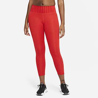 Nike Dri-FIT One Icon Clash Женские слегка укороченные леггинсы со средней посадкой и принтом