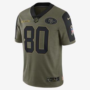 NFL San Francisco 49ers Salute to Service (Jerry Rice) Jersey de fútbol americano edición limitada para hombre