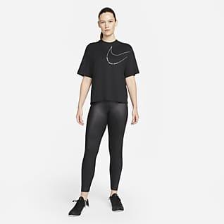 Nike Dri-FIT Trainingsshirt met recht design voor dames