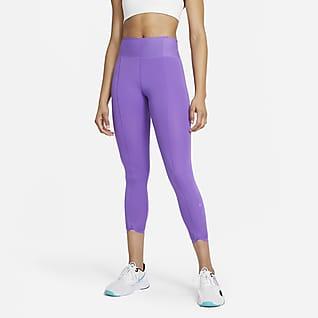 Nike One Luxe Icon Clash Ankellange leggings til kvinder