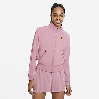 NikeCourt Hosszú cipzáras női tenisz-melegítőfelső