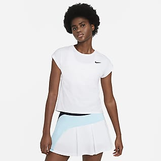 NikeCourt Dri-FIT Victory Женская теннисная футболка с коротким рукавом