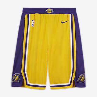 Los Angeles Lakers Icon Edition Shorts Nike NBA Swingman för ungdom