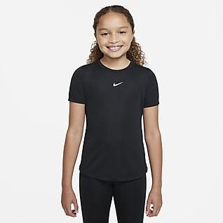 Nike Dri-FIT One Rövid ujjú felső nagyobb gyerekeknek (lányok)