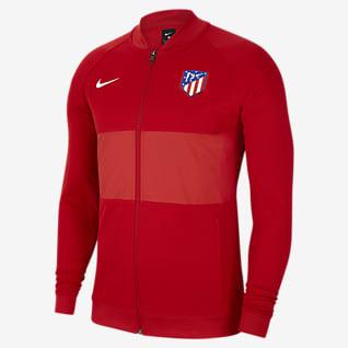 Atlético Madrid Casaco de treino de futebol com fecho completo para homem
