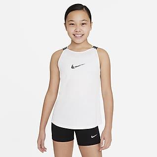 Nike Dri-FIT Elastika Camiseta de tirantes de entrenamiento para niñas talla grande