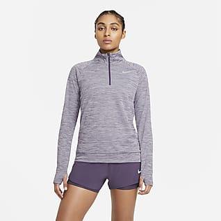 Nike Pacer Prenda para la parte superior de running de running con cierre de 1/4 para mujer