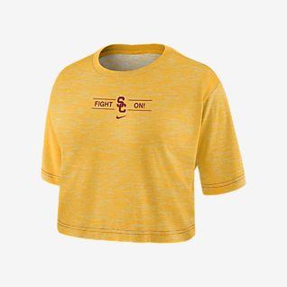 Nike College Dri-FIT (USC) Women's Cropped T-Shirt