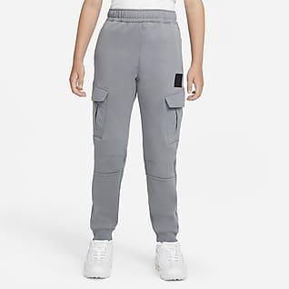 Nike Sportswear Air Max Flísové běžecké kalhoty pro větší děti (chlapce)