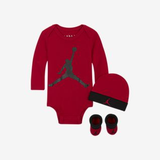 Jordan Baby Bodysuit, Beanie and Booties Set