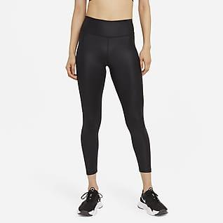 Nike One เลกกิ้งหนังสังเคราะห์เอวปานกลาง 7/8 ส่วนผู้หญิง