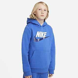 Nike Sportswear Club Fleece Belebújós, kapucnis pulóver nagyobb gyerekeknek