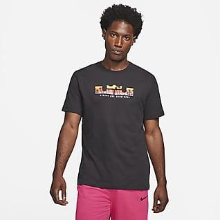 Nike Dri-FIT LeBron Logo Kısa Kollu Erkek Basketbol Tişörtü