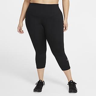 Nike One Korta leggings med medelhög midja för kvinnor (Plus Size)