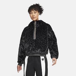 Jordan Court-To-Runway Huvtröja i fleece för kvinnor