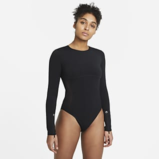 Nike City Ready Langärmliger Trainings-Bodysuit für Damen