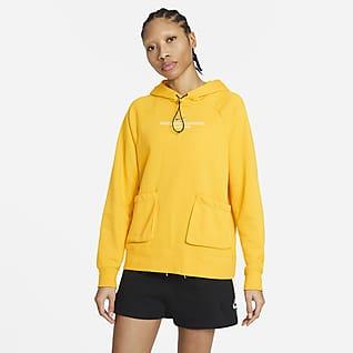 Nike Sportswear Swoosh Damska bluza z kapturem z dzianiny