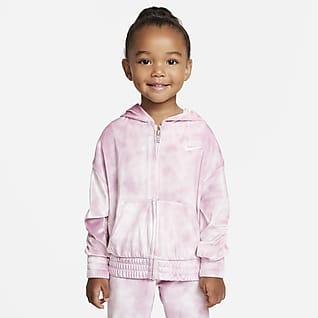 Nike Sudadera con capucha de cierre completo de velour para niño pequeño