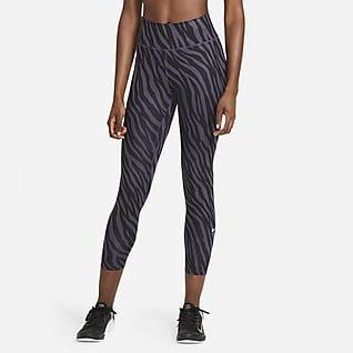 Nike One Icon Clash-leggings i 7/8 lengde med trykk til dame