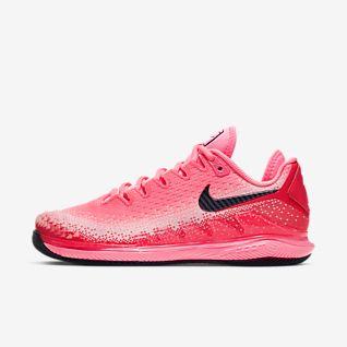 Femmes Rouge Tennis Chaussures. Nike FR