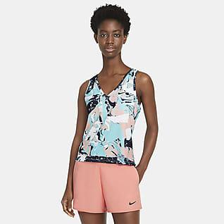 NikeCourt Victory Tennissinglet med trykk til dame