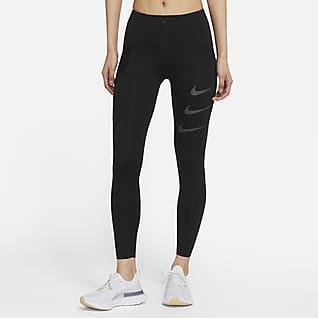 Nike Epic Luxe Run Division เลกกิ้งวิ่งเอวปานกลางผู้หญิง