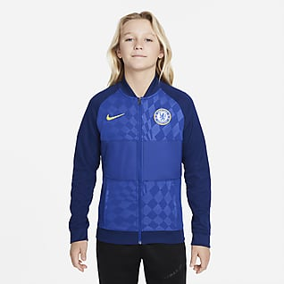 Chelsea FC Fotbollsträningsjacka med hel dragkedja för ungdom
