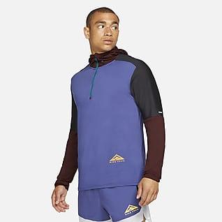 Nike Dri-FIT Trail Terrengløpeoverdel med glidelås i halsen til herre
