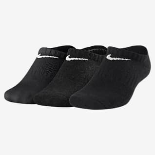 Nike Everyday Cushioned No-Show sokker til store barn (3 par)