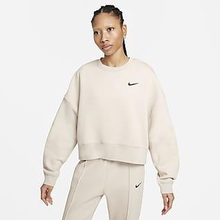 Nike Sportswear Женская укороченная флисовая футболка