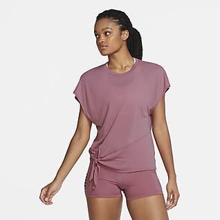 Nike Dri-FIT Prenda para la parte superior de entrenamiento de manga corta para mujer