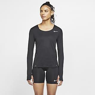 Nike Langærmet løbetop til kvinder