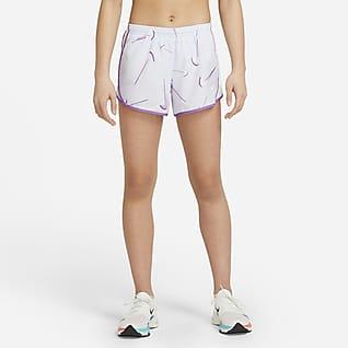 Nike Dri-FIT Tempo กางเกงเทรนนิ่ง Swoosh ขาสั้นเด็กโต (หญิง)