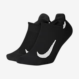 Nike Multiplier Meias de running No-Show (2 pares)