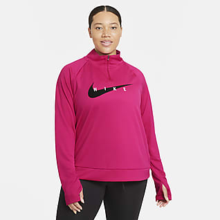 Nike Swoosh Run Camiseta de running (Talla grande) - Mujer