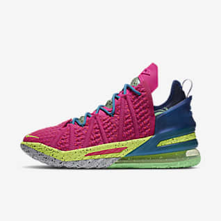 """LeBron 18 """"Los Angeles By Night"""" Basketball Shoe"""