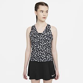 NikeCourt Dri-FIT Victory Camiseta de tirantes de tenis con estampado para mujer