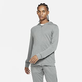 Nike Yoga Dri-FIT Herrenjacke mit durchgehendem Reißverschluss