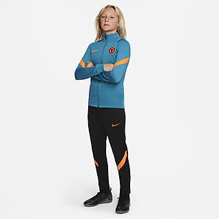 Chelsea FC Strike Футбольный трикотажный костюм для школьников Nike Dri-FIT