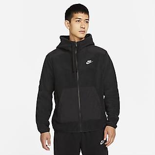 Nike Sportswear Style Essentials+ Ανδρική φλις μπλούζα με κουκούλα και φερμουάρ σε όλο το μήκος