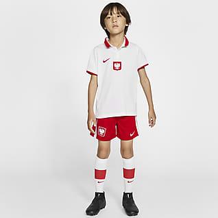 Домашняя форма сборной Польши 2020 Футбольный комплект для дошкольников