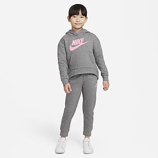 Nike Sportswear Club Fleece Caja de conjunto de sudadera con gorro y pants para niños talla pequeña